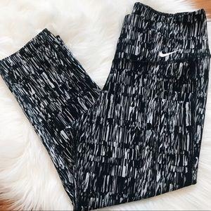Nike Dri-Fit Patterned Capri Leggings XS